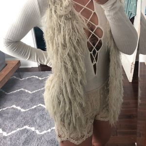 Jackets & Blazers - Furry Crochet vest